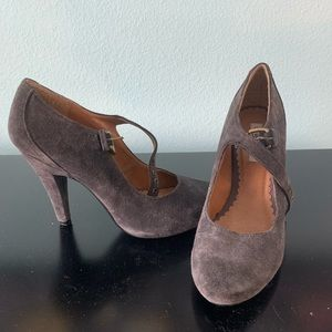 Steve Madden Gray Heels in PERFECT Condition